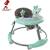COOLBABY Baby Walker MULTIFUNCTIONAL Adjustable Toddler Walking Assistant Standing Up and Walking Learning Helper for Baby Safety Walking,Ride On Toys,Green