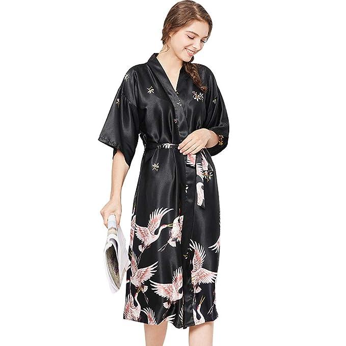 buy online dd27c 84cee JYY Vestaglia da donna Kimono Accappatoio, Accappatoio di ...