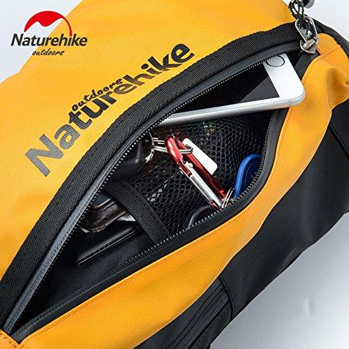 Naturehike bolsa de hombro Ocio Deporte impermeable Versipack seno bolsa de ciclismo unisex Messenger Bag, hombre mujer, naranja naranja