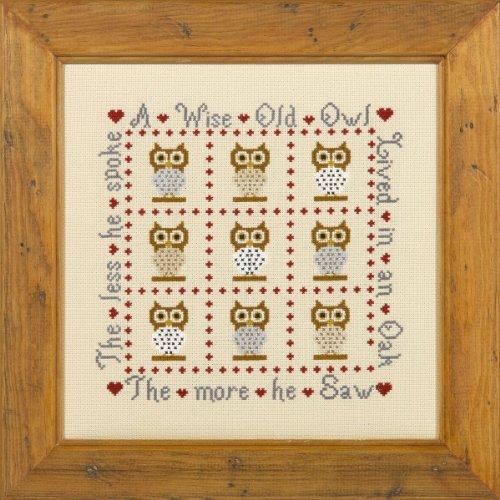 Historical Sampler Company Ltd A Wise Old Owl Cross Stitch