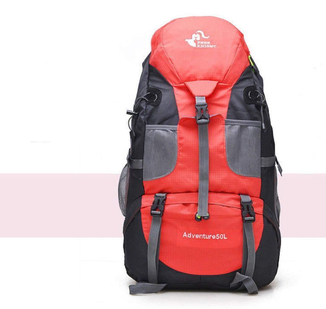rouge  ZVLPE Les Sacs étanches à Grande capacité Alpinisme 50l pour Camping randonnée à Dos à Dos Unisexe étudiant Voyage Loisirs Sac Sac