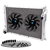 Aluminum Radiator + 9'' FAN For 02-08 MINI COOPER S 1.6L SUPERCHARGED R52/R53