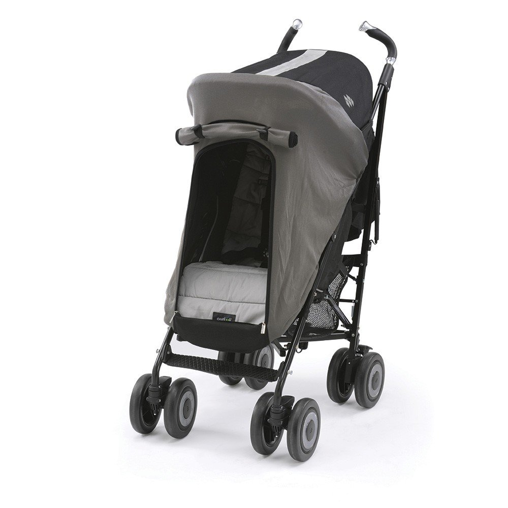 Outlook Universal Stroller Sleep Shade - Universal Stroller Sleep Pod - Steel