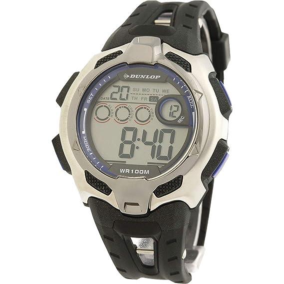 Dunlop Reloj Digital para Hombre de Automático con Correa en Resina DUN-79-G03: Amazon.es: Relojes