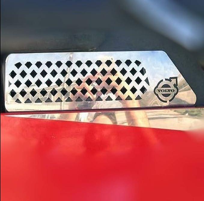 2 rejillas de ventilaci/ón de acero inoxidable para parabrisas de camiones FH FH12 FH2 FH3