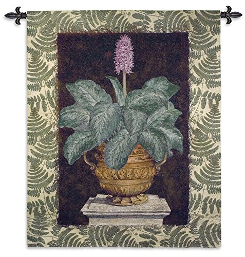 Fine Art Tapestries Tropical Urn Ii Hand Finished European Style Jacquard Woven Wall Tapestry USA 66X52