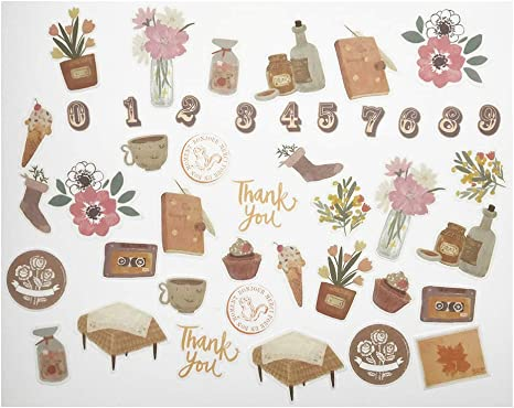 10 Sheets//Set Vintage Paper Stickers DIY Scrapbooking Album Diary Craft Decor