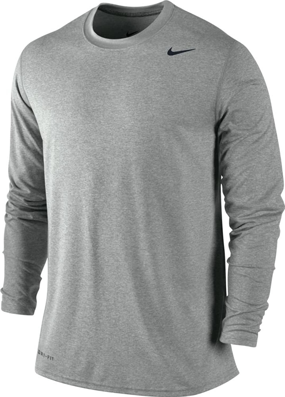 Amazon.com: Nike Mens Legend Poly Long Sleeve Dri-Fit Training ...