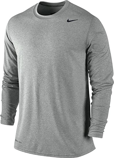 41fcbac29 Image Unavailable. Image not available for. Color: Nike Mens Legend Poly  Long Sleeve Dri-Fit Training Shirt ...