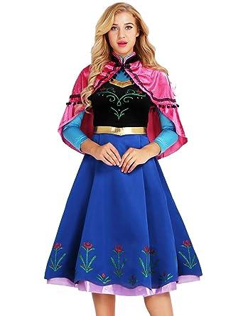 MSemis Disfraz Princesa Nieve para Mujer Vestido Princesa ...