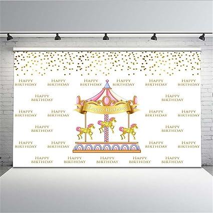 Amazon Com Ml Photography Background Cloth 7x5 Gold Unicorn