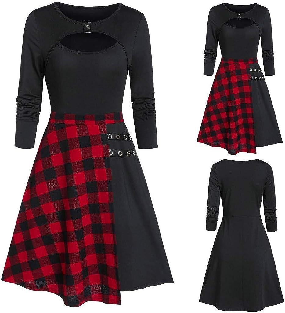 ONLY TOP Women Cowl Neck Plaid Drawstring Button Sheath Ruched Tunic Sweatshirt Asymmetrical Dress Tops # 5 Design