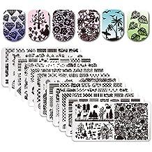 Born Pretty 12Pcs Nail Art Stamp Stamping Template Christmas Snowflake Image Plates DIY Nail Art