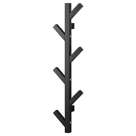 Ikea TJUSIG- Perchero de pared moderno de madera maciza con ...