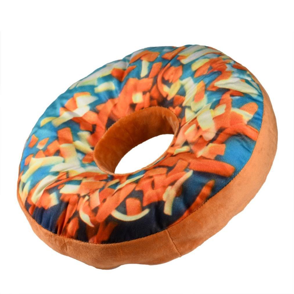 Susenstone New style Doughnut Shaped Ring Plush Soft Novelty Style Cushion Pillow (Sky blue) Susenstone_1336