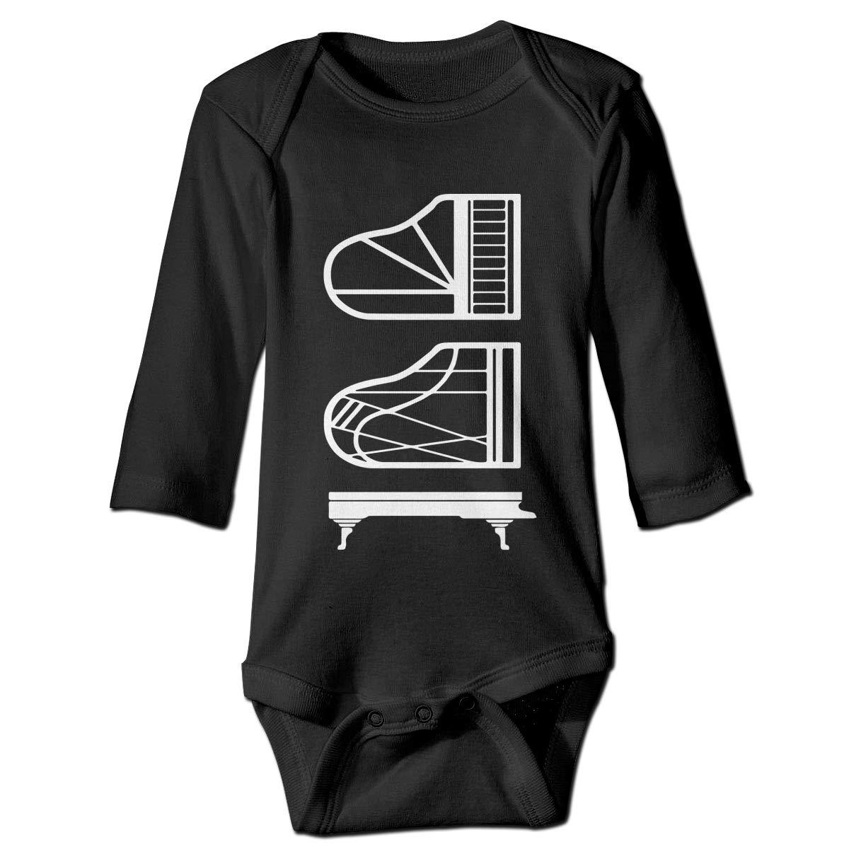 CZDedgQ99 Baby Boys Piano Schematics Long Sleeve Climbing Clothes Pajamas Sleepwear Suit 6-24 Months