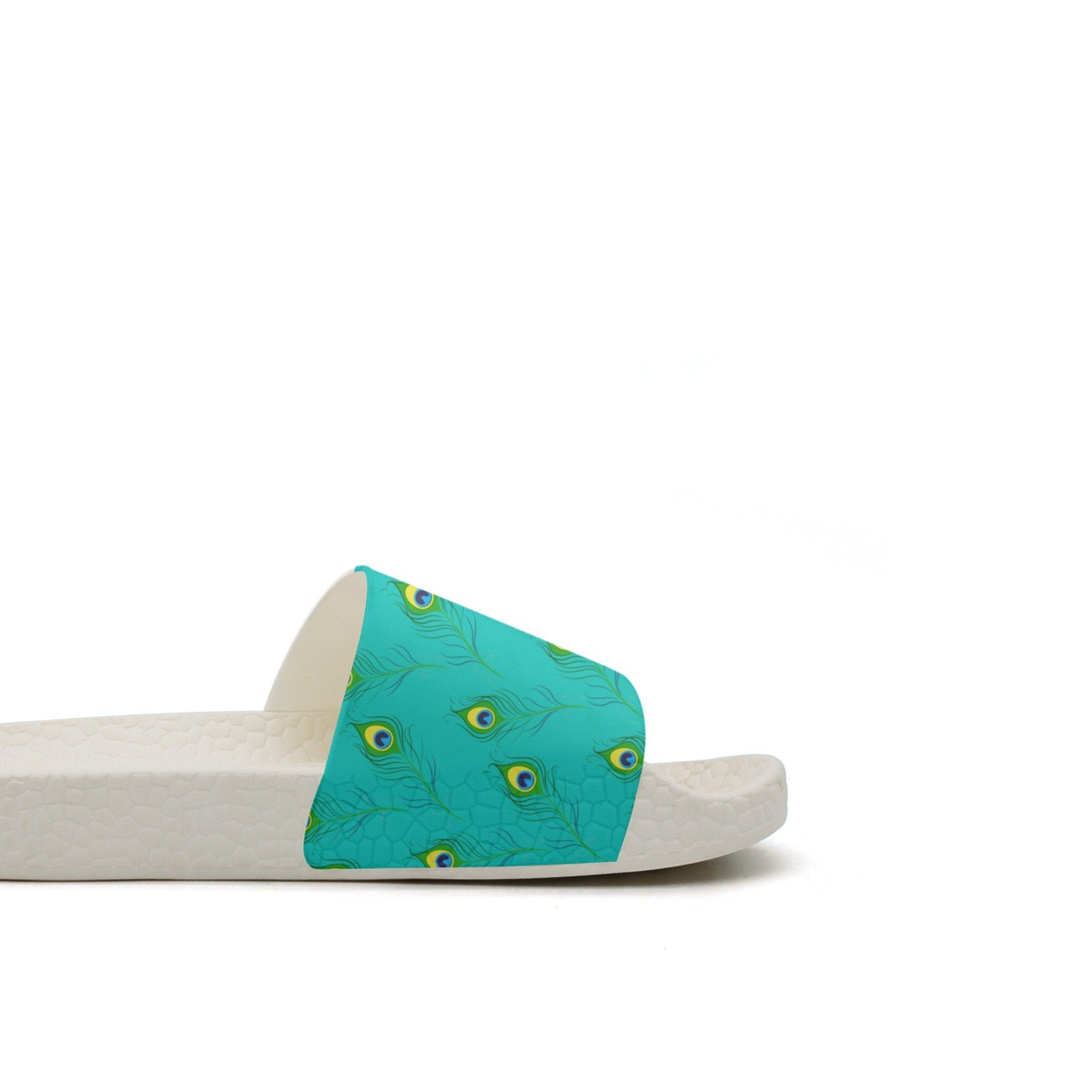 Peafowl Peacock Feathers Green Summer Slippers For Men