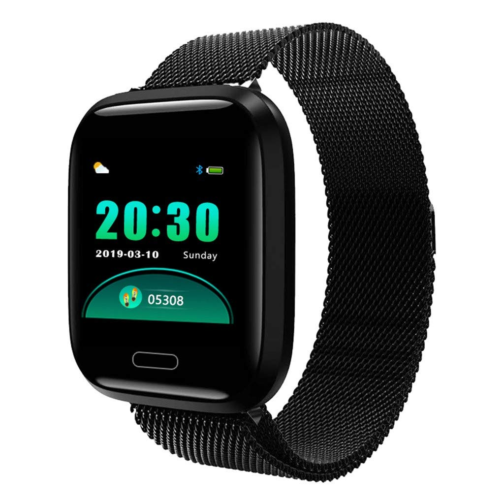 WELCOMEUNI 1.3inch Full Color Screen Fitness Watch Activity Tracker Blood Pressure Heart Rate Monitor Smart Watch Bracelet