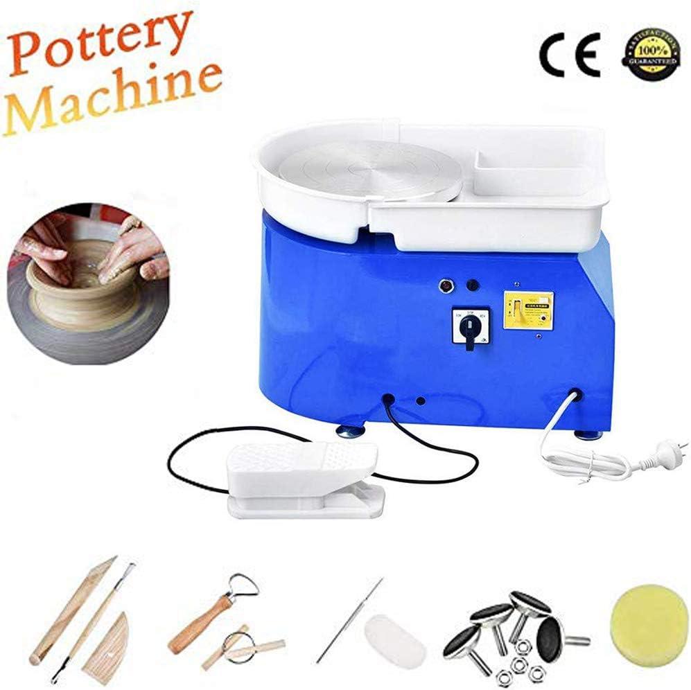 Blue Pedal S SMAUTOP 350W Electric Pottery Wheel Ceramic Machine 25cm with Shaping Tool Kit Ceramic Wheel Machine Pottery DIY Kit