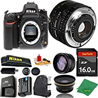 Great Value Bundle for D750 DSLR – 50MM 1.8D + 16GB Memory + Wide Angle + Telephoto Lens + Backpack