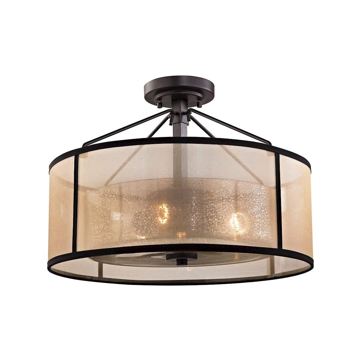Elk lighting 57024 3 close to ceiling light fixtures 13 x 18 x 18 bronze amazon com