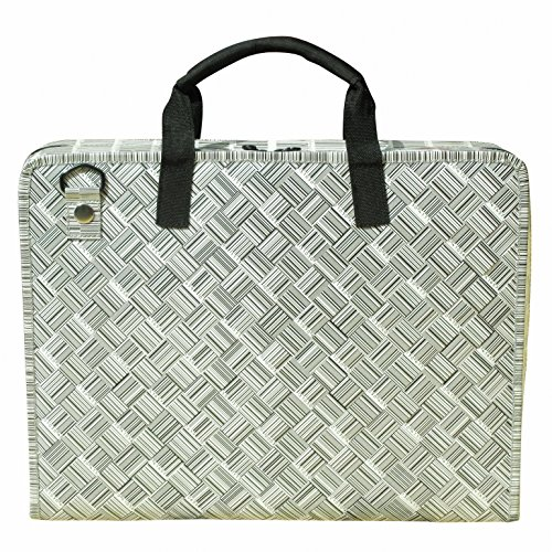 LAPTOP briefcase made from barcode labels, FREE SHIPPING, padded computer work working office bag upcycled upcycle upcycling recycling different smart person products people enthusiasts enthusiast by Upcycling by Milo