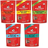 Stella & Chewy's Freeze Dried Dog Food for Adult Dogs, 5.5oz Variety Pack 1 of each Flavor (Beef, Chicken, Duck, Surf N' Turf, Lamb 27.5oz Total)