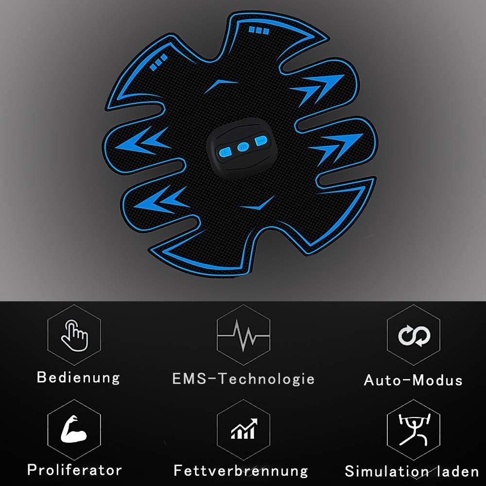 M/änner und Frauen Muskeltraining USB Kabellos Intelligente Fitnessger/äte EMS-Bauchmuskeltraining Sporttraining Abdominal Equipment Senden Gel 12 St/ück WeyTy Elektrischer Muskelstimulation