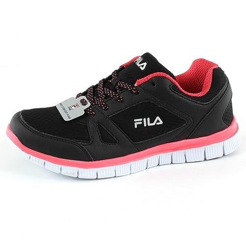 Fila Zapatillas de Running de Tela Tela de y Material Sintético Mujer, Negro 5a03c3