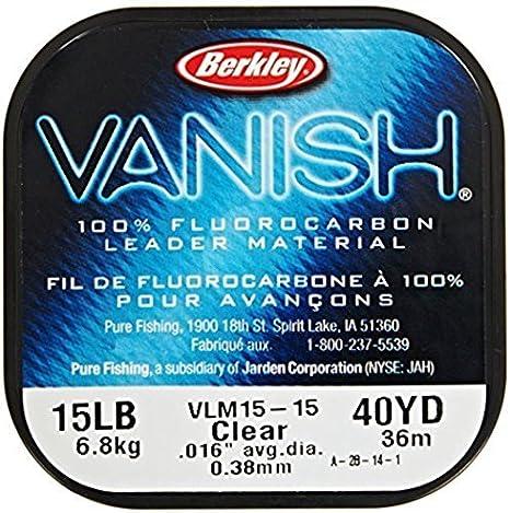 Berkley Vanish Fluorocarbon Leader Material Clear 40 yds