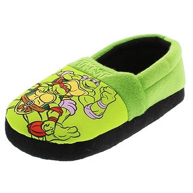 b99c2cb4431 Amazon.com  TMNT Teenage Mutant Ninja Turtles Boys Aline Slippers (Toddler Little  Kid)  Shoes