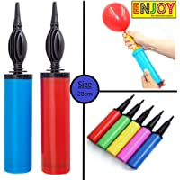 Enjoy Handy Air Balloon Pumps for Foil Balloons and Inflatable Toys Party Accessory (Set of 2,Size 27cm, Multi Color)