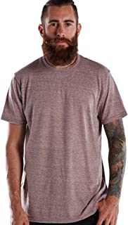 product image for US Blanks Men's Short-Sleeve Made in USA Triblend T-Shirt 3XL TRI BROWN