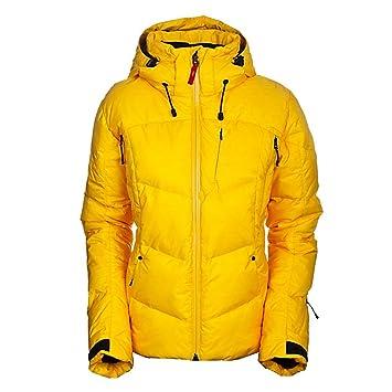 Veste de ski femme jaune