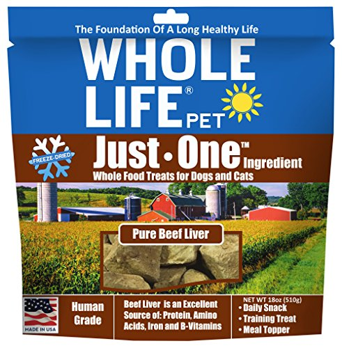 Whole Life Pet Single Ingredient Usa Freeze Dried Beef Liver Treats Value Pack For Dogs & Cats, 18 Oz Dog Beef Cat Treats