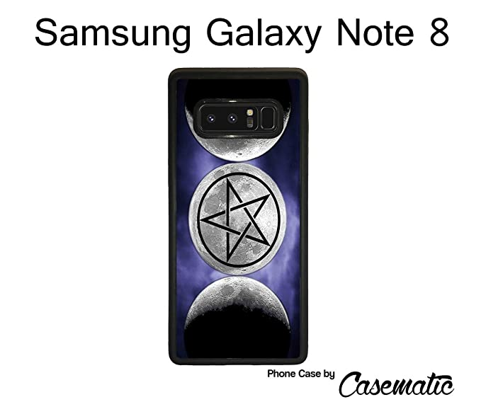 Samsung Galaxy Note 8 Case The Moon Goddess Symbol Wicca Rubber Black  Protective Phone Case For Samsung Galaxy Note 8 Phone Case by Casematic