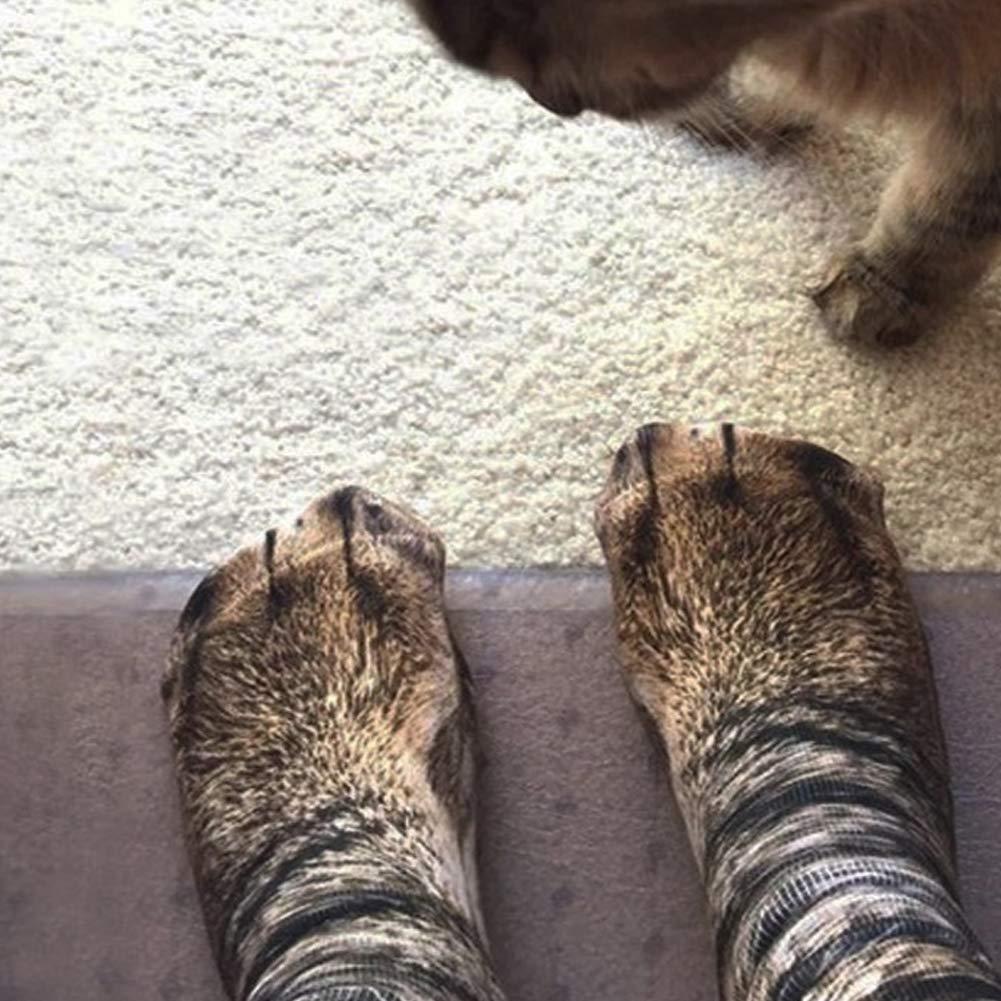 childrens fun 1 pairs of creative 3D print animal paw pattern socks socks and cats. cotton socks