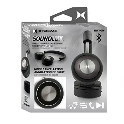 Black SoundLux Bluetooth Headphones