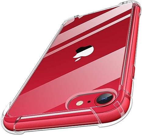 MoKo Funda Compatible con Nuevo iPhone SE 2020 Funda/iPhone 8 Funda/iPhone 7 Funda, Choque-Absorbente Anti-Rasguño Cubierta Trasera para iPhone SE / 8/7, Cristal Claro: Amazon.es: Electrónica