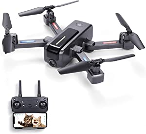 Ruko B7 4K Drones with Camera for Kids FPV Drone for Boys Adults Foldable HD Drone RC Quadcopter with Optical Flow Positioning Ultra Tough Super Easy Fly for Beginner Training (2 Batteries+Carry Case)
