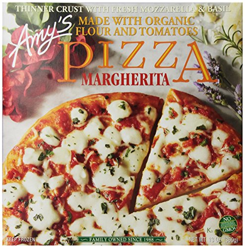 - Amy's Frozen Margherita Pizza, Hand-Stretched Crust, Full Size