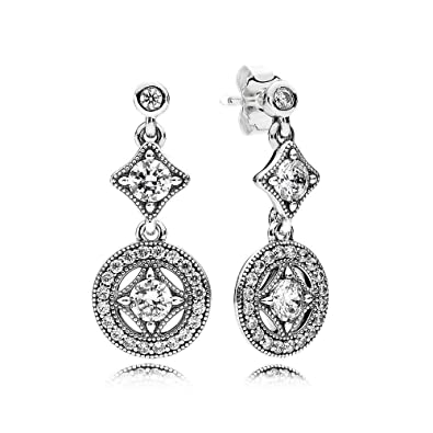 036457a22 Amazon.com: Pandora Vintage Allure Drop Earrings With Clear Cubic Zirconia  290722CZ: Jewelry