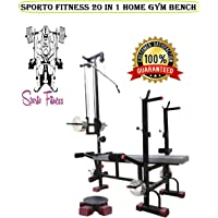 SPORTO FITNESS™ 20 in 1 Bench with Twister for Gym Exercise 2X2 ERP Super Pipe