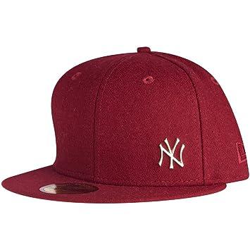 0fae4deec5b88 New Era York Yankees MLB Melton Cap Metal - Red -  Amazon.co.uk ...