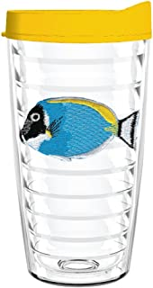 product image for Smile Drinkware USA-AQUARIUM FISH BLUE 16oz Tritan Insulated Tumbler With Lid and Straw