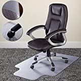 Pvc Home Office Chair Floor Mat Studded Back With Lip For Standard Pile Carpet Smooth Surface Facilitates Easy...