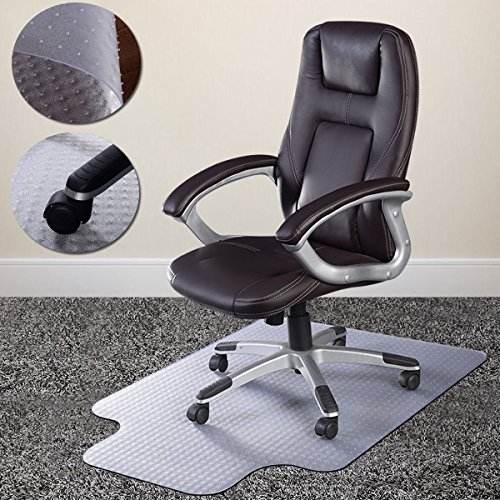 Pvc Home Office Chair Floor Mat Studded Back With Lip For Standard Pile Carpet Smooth Surface Facilitates Easy Movement Chairs Mat Brand New by Noa Store