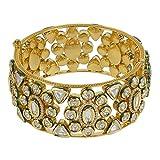 MUCHMORE Great Style Kundan & CZ Gold Tone Diamond Swarovski Elements Indian Bangles Traditional Jewelry (2.6)