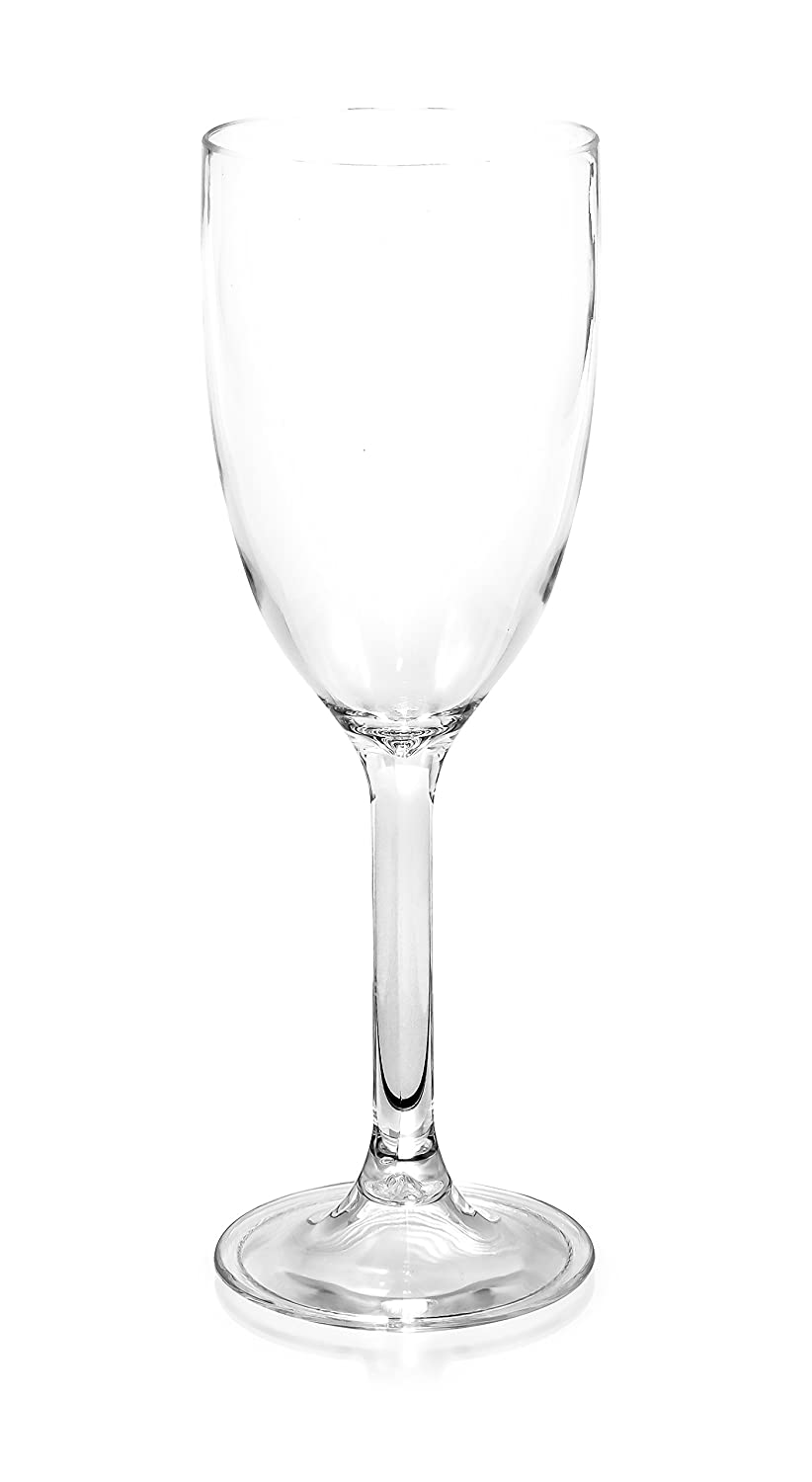 Camco 43862 Polycarbonate 9 oz. Capacity Wine Glass, (Pack of 8)