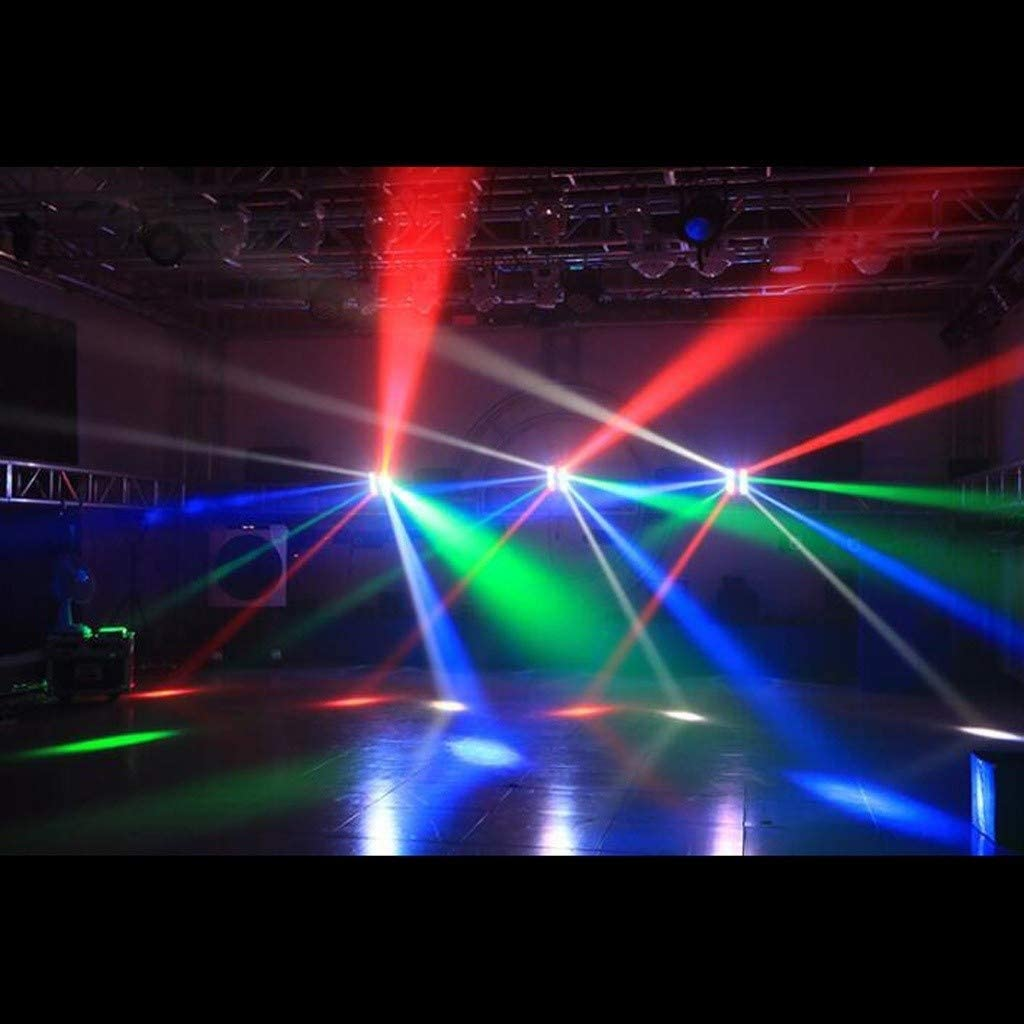 Disco Lights LED Shaking Head Rotating Eight Eyes Flashing Voice Control Běam Light DMX512 Lighting Fixtures For Stage KTV Private Room Bar Disco TWQtwq
